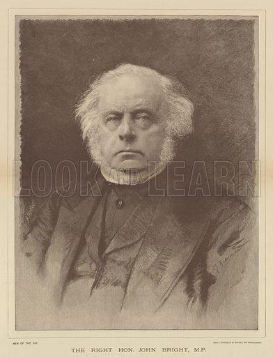 The Right Honourable John Bright, MP Illustration for The Illustrated London News, 11 February 1888.