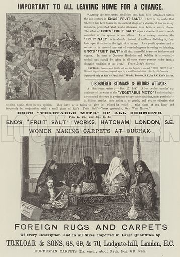 Page of Advertisements. Illustration for The Illustrated London News, 28 July 1888.