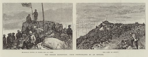 The Sikkim Expedition. Illustration for The Illustrated London News, 11 August 1888.