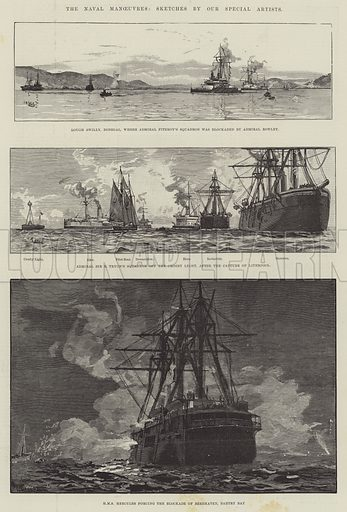 The Naval Manoeuvres. Illustration for The Illustrated London News, 25 August 1888.