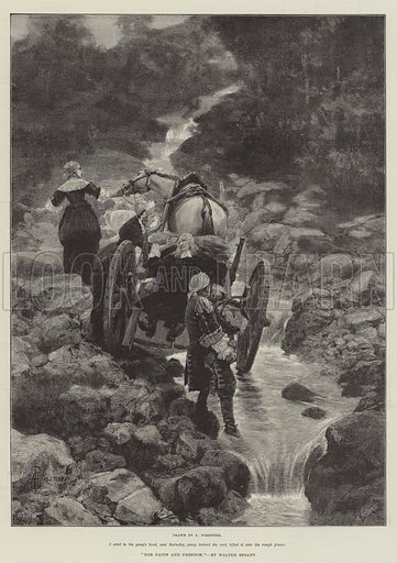 For Faith and Freedom, by Walter Besant. Illustration for The Illustrated London News, 22 September 1888.