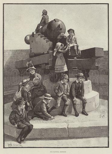 Our National Defences. Illustration for The Illustrated London News, 29 September 1888.