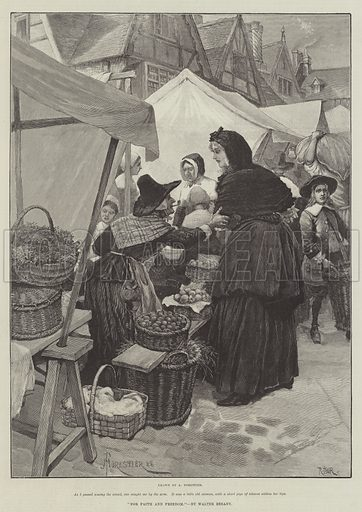 For Faith and Freedom, by Walter Besant. Illustration for The Illustrated London News, 27 October 1888.