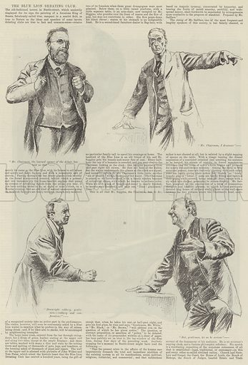 The Blue Lion Debating Club. Illustration for The Illustrated London News, 27 October 1888.