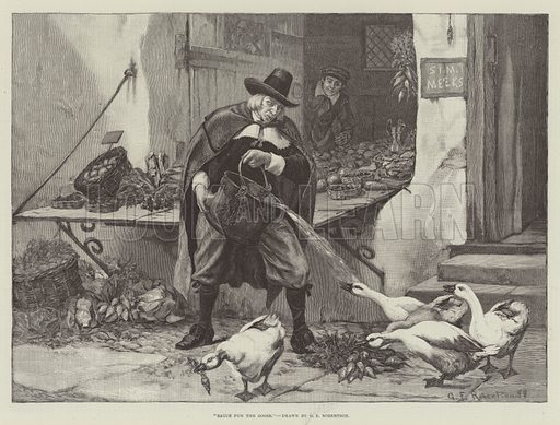 Sauce for the Goose. Illustration for The Illustrated London News, 10 November 1888.
