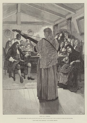 For Faith and Freedom, by Walter Besant. Illustration for The Illustrated London News, 17 November 1888.
