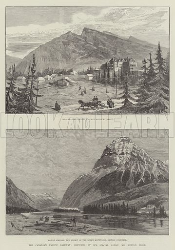 The Canadian Pacific Railway. Illustration for The Illustrated London News, 24 November 1888.
