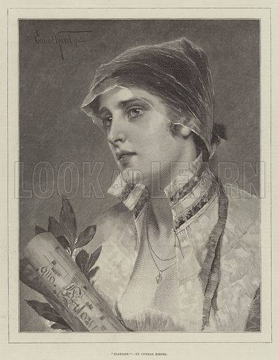Clarisse. Illustration for The Illustrated London News, 1 December 1888.