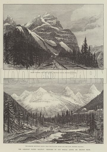 The Canadian Pacific Railway. Illustration for The Illustrated London News, 1 December 1888.