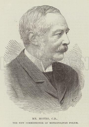 Mr Monro, CB, the New Commissioner of Metropolitan Police. Illustration for The Illustrated London News, 8 December 1888.