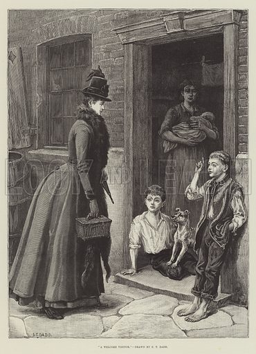 A Welcome Visitor. Illustration for The Illustrated London News, 22 December 1888.
