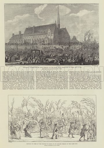 Centenary of the French Revolution. Illustration for The Illustrated London News, 13 July 1889.