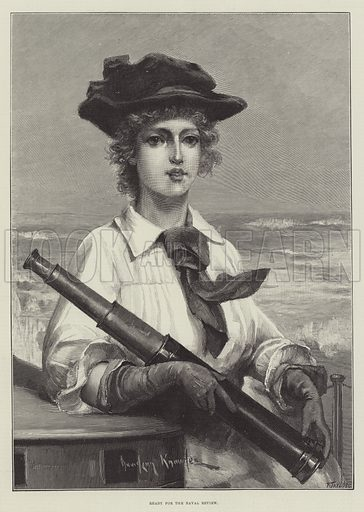 Ready for the Naval Review. Illustration for The Illustrated London News, 3 August 1889.