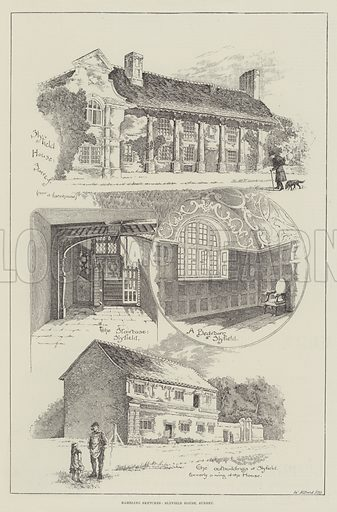 Rambling Sketches, Slyfield House, Surrey. Illustration for The Illustrated London News, 31 August 1889.