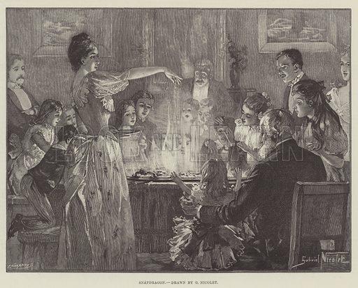 Snapdragon. Illustration for The Illustrated London News, 28 December 1889.