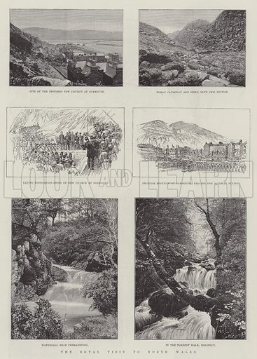 The Royal Visit to North Wales. Illustration for The Illustrated London News, 7 September 1889.