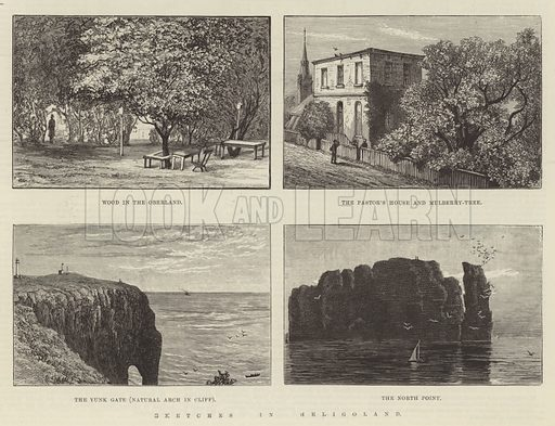 Sketches in Heligoland. Illustration for The Illustrated London News, 19 July 1890.