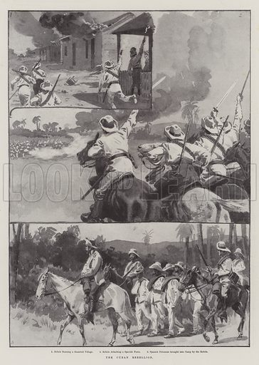 The Cuban Rebellion. Illustration for The Illustrated London News, 30 January 1897.