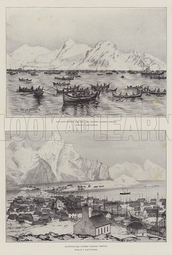 Sketches of Norway. Illustration for The Illustrated London News, 13 February 1897.