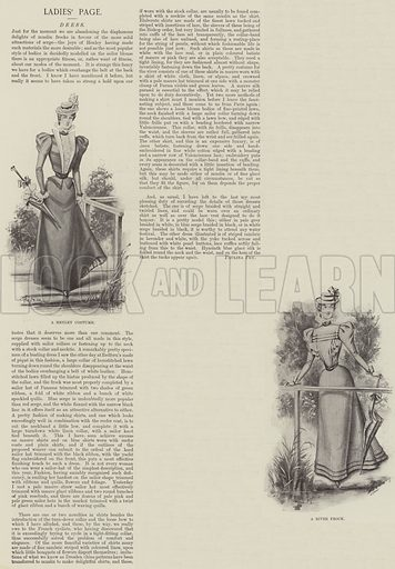 Ladies' Page. Illustration for The Illustrated London News, 17 July 1897.