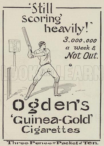 Advertisement, Ogden's Guinea-Gold Cigarettes. Illustration for The Illustrated London News, 4 September 1897.