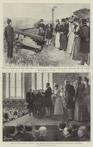 The Royal Visit to Ireland. Illustration for The Illustrated London News, 18 September 1897.