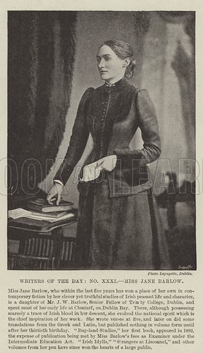 Miss Jane Barlow. Illustration for The Illustrated London News, 13 November 1897.