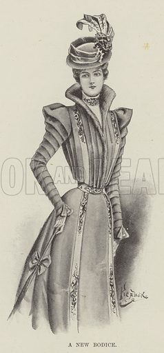 A New Bodice. Illustration for The Illustrated London News, 27 November 1897.