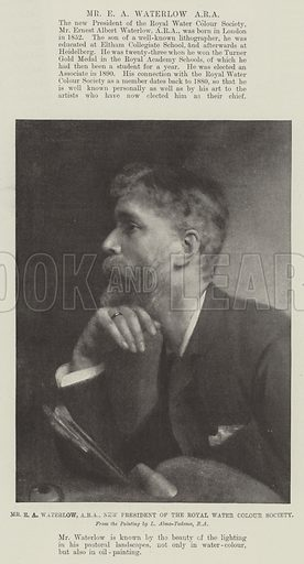 Mr EA Waterlow, ARA, New President of the Royal Water Colour Society. Illustration for The Illustrated London News, 11 December 1897.