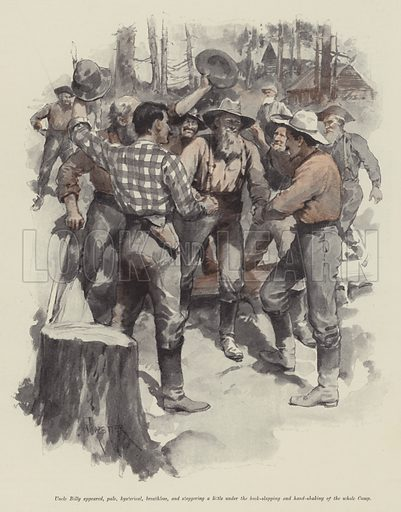 Uncle Jim and Uncle Billy, by Bret Harte. Illustration for The Illustrated London News, Christmas Number 1897.