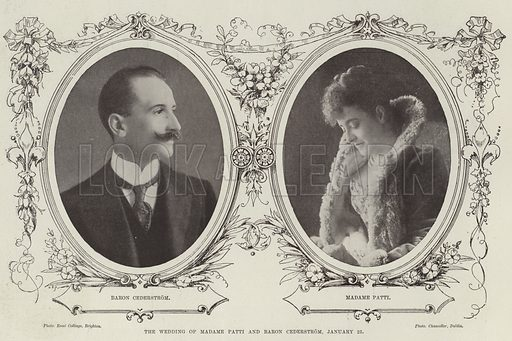 The Wedding of Madame Patti and Baron Cederstrom, 25 January. Illustration for The Illustrated London News, 28 January 1899.