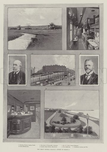The Great Central Railway, opened on 9 March. Illustration for The Illustrated London News, 18 March 1899.