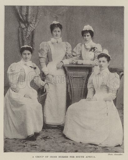 A Group of Irish Nurses for South Africa. Illustration for The Illustrated London News, 13 January 1900.