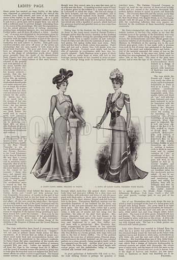 Ladies' Page. Illustration for The Illustrated London News, 28 April 1900.