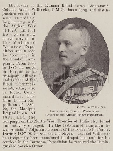 Lieutenant-Colonel Willcocks, Leader of the Kumasi Relief Expedition. Illustration for The Illustrated London News, 9 June 1900.