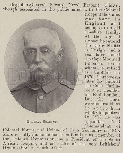 General Brabant. Illustration for The Illustrated London News, 30 June 1900.