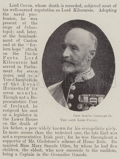 The late Lord Cavan. Illustration for The Illustrated London News, 4 August 1900.