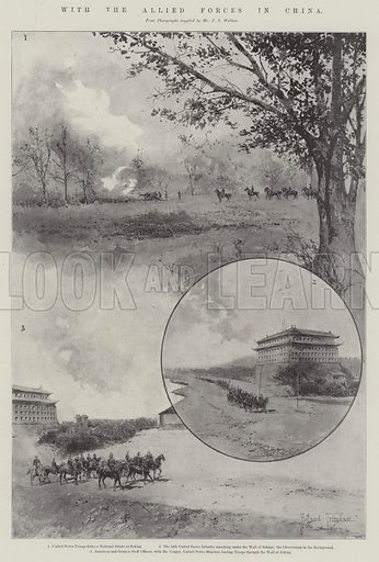 With the Allied Forces in China. Illustration for The Illustrated London News, 29 December 1900.