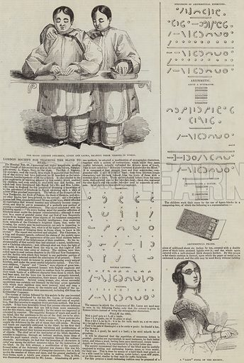 London Society for Teaching the Blind to Read. Illustration for The Illustrated London News, 25 February 1843.
