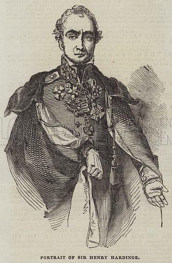 Portrait of Sir Henry Hardinge. Illustration for The Illustrated London News, 6 May 1843.
