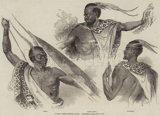 Kaffir Chiefs. Illustration for The Illustrated London News, 8 August 1846.