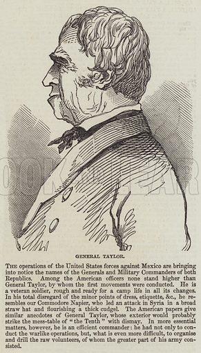 General Taylor. Illustration for The Illustrated London News, 14 November 1846.