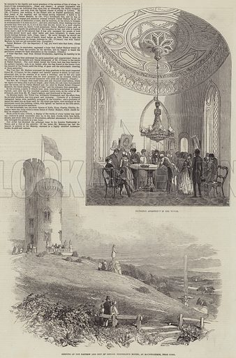 The Opening of the Mathew and City of London Temperance Tower. Illustration for The Illustrated London News, 21 November 1846.