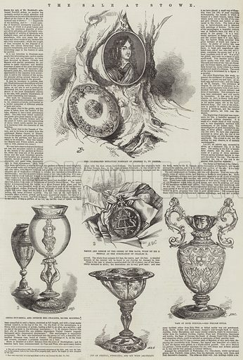 The Sale at Stowe. Illustration for The Illustrated London News, 19 August 1848.