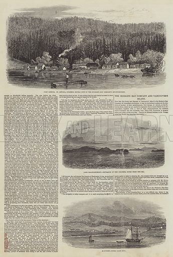 The Hudson's Bay Company and Vancouver Island. Illustration for The Illustrated London News, 10 February 1849.