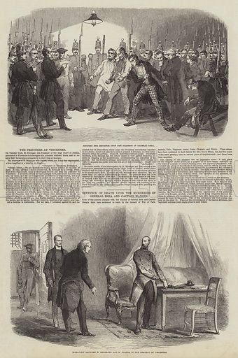 The Prisoners at Vincennes. Illustration for The Illustrated London News, 17 February 1849.