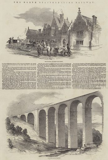 The North Staffordshire Railway. Illustration for The Illustrated London News, 16 June 1849.