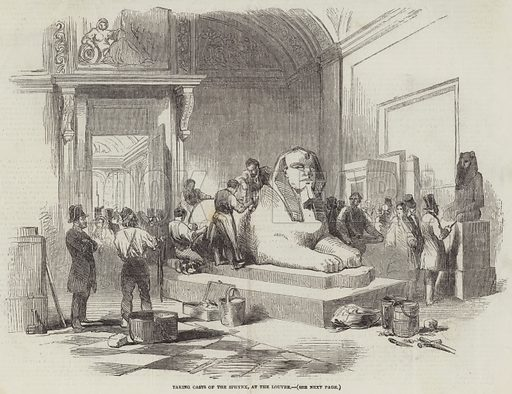 Taking Casts of the Sphynx, at the Louvre