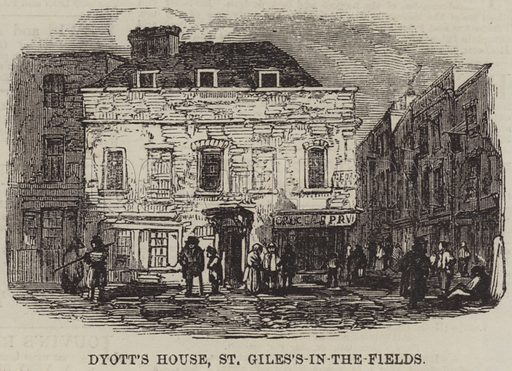 Dyott's House, St Giles's-in-the-Fields. Illustration for The Illustrated London News, 16 October 1858.