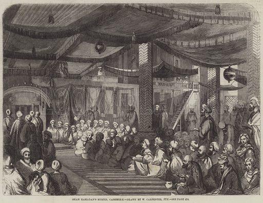 Shah Hamadan's Musjid, Cashmere. Illustration for The Illustrated London News, 20 November 1858.